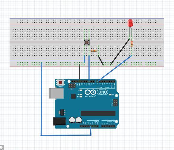 button-led bağlantısı