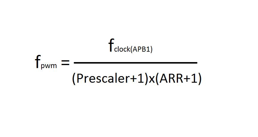 STM32 PWM formülü